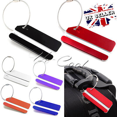 7 Lot Set Aluminium Metal Travel Cruise Suitcase Luggage Bag ID Tags Name Holder