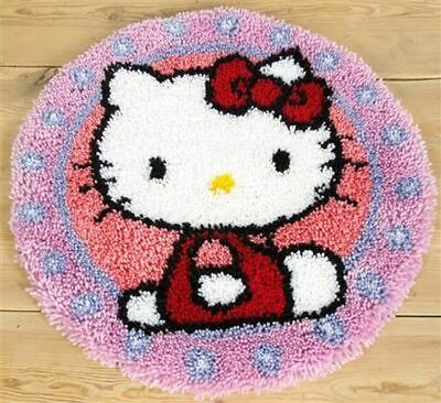 """Vervaco Knüpfformteppichpackung"""" Hello Kitty """" Pn- 0147570"""