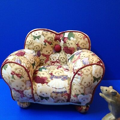Teddy's & Dolly's -  Padded Plush Upholstered Sofa Arm Chair - 23H x 33W x 35D