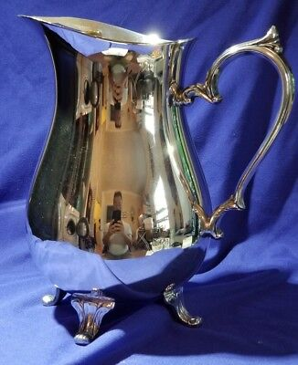 Antique IS Co water pitcher with handle footed International Silver