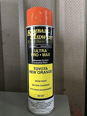 Toyota Forklift Spray Paint Orange Oem Color Match Kimball Midwest 80-587