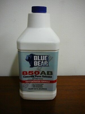Franmar Blue Bear Concrete Form Release 850ABS for ABS Forms 32 oz. Concentrate