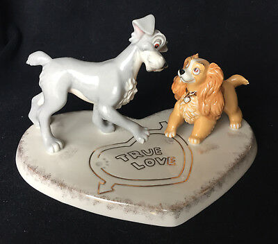 "LENOX - DISNEY - Lady and the Tramp - ""TRUE LOVE"" - Cake Topper / Figurine"