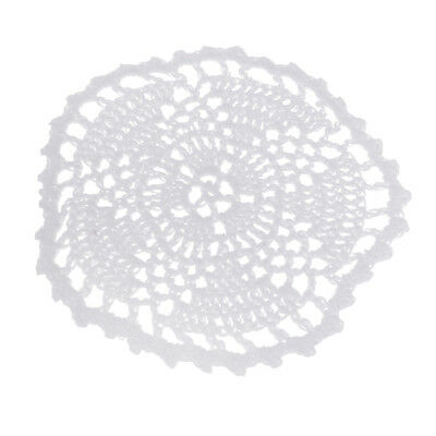 White Cotton Traditional Table Crochet Lace Doily Coaster Handmade place mat