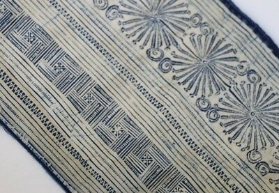 Tribal exotic chinese ethnic mionrity people's old hand batik