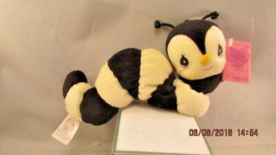 Precious Moments Tender Tails Plush  Yellow Black Caterpillar  1999 ENESCO Tag