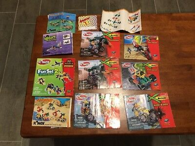 K'NEX 13 Separate Sets + 1 Extra 120 Model Book, In Huge Container!