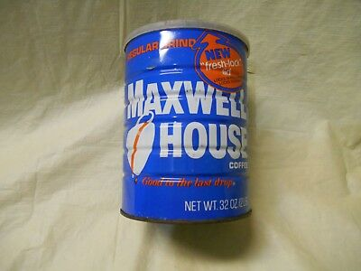 Vintage Maxwell House Regular Grind Coffee Tin Can Size 2 lb pounds