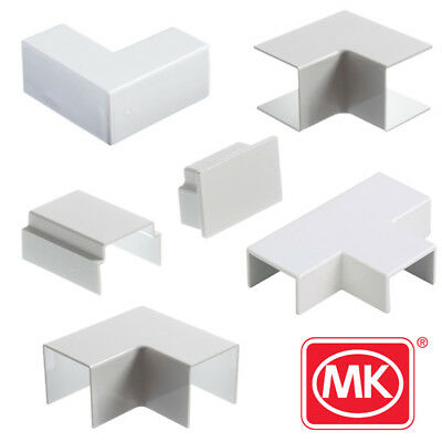 MK Electric Mini Trunking White PVC 16mm 25mm 40mm 50mm Accessories