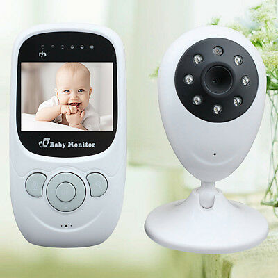 Wireless Baby Monitor Indoor HD Camera Night Security W/ Lullabies & Temperature