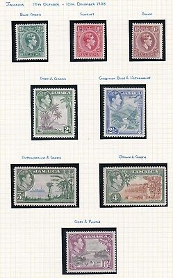 Commonwealth. Jamaica FOUR PAGES. George VI 1938 set with extra types. Mint.