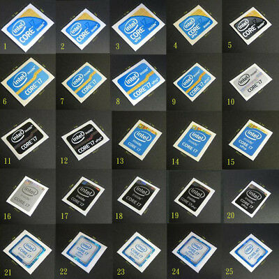 intel CORE i7 Sticker Collection - ivy sandy bridge,haswell,skylake,6th 7th Gen