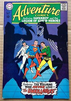 ADVENTURE COMICS #361 (1967) DC Silver Age Superboy, Legion of Super-Heroes F-