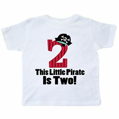 Inktastic Pirate 2nd Birthday Toddler T Shirt Second Two Bday Party Year Old Boy