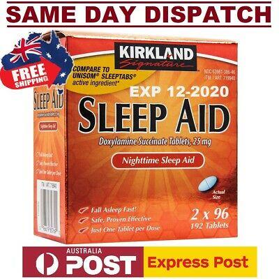 SLEEP AID Doxylamine Succinate 25mg Kirkland DEEP SLEEP - TWIN PACK FAST SHIP!