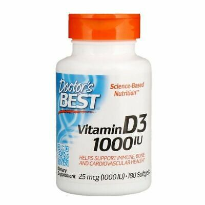 Doctor's Best Vitamin D3 - 1000 2000 5000 IU HIGH STRENGTH - 180 360 720 SOFTGEL