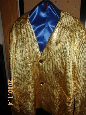 Blazer, Gold, Sequined, with matching bow tie....
