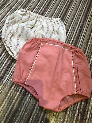 Two Pairs Of Vintage Girls Underpants