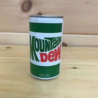 Vintage Mountain Dew Pull Tab Soda Can