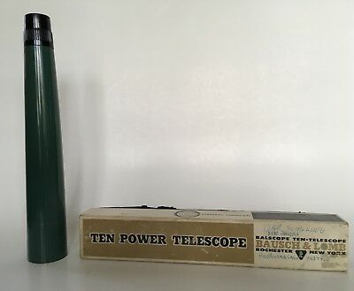 Vintage Balscope Ten Power Telescope Bausch & Lomb with Box