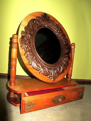 Rare VTG for little Soviet lady 1950 Russian toy furniture dressing table USSR