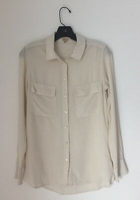 0361c437150320 Aritzia s T. Babaton Silk Blouse Pockets Long Sleeve Button Down Size Small