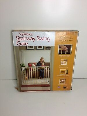 """North States 4630 Supergate Stairway Swing Gate Fits 28"""" to 42"""" Wide 30"""" high"""
