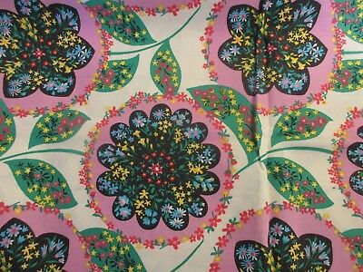 By the Half Yard Amy Butler Wall Flower Cherry AB17 Quilting Fabric #FS17
