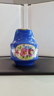imperial russian porcelain gardner factory blue floral creamer circa 1900s