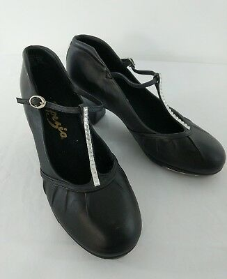 Black Capezio Tap Shoes Radiance (CG094) tap shoes - with BLING Size 6 W