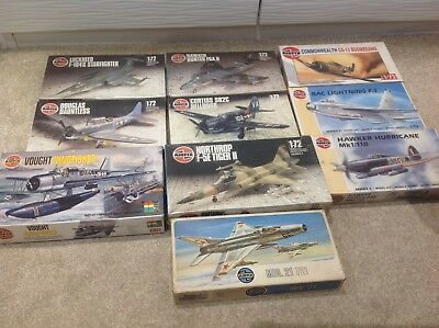 Job Lot of 10 Aircraft Model Kits - Airfix 1:72 Scale*new Old Stock**