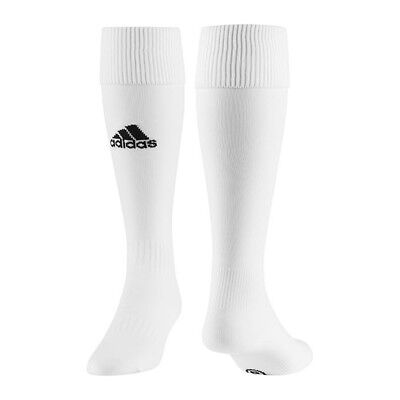 White Adidas Boys Mens Milano Football Socks Rugby Soccer Uk Size 6.5-8 & 8.5-10