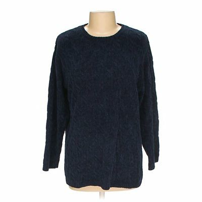 Lord Taylor Exclusively For Womens Blue Knit Sweater Size S