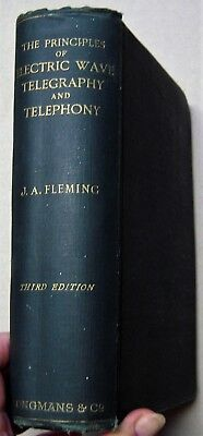 1916 telegraph book PRINCIPLES OF ELECTRIC WAVE TELEGRAPHY owned by USS PADUCAH