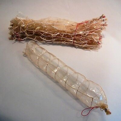 """Sausage Clear Cellulose Casings in a grid Net of 4 Cells, Ø3.7"""" x 20"""", 30 pcs."""