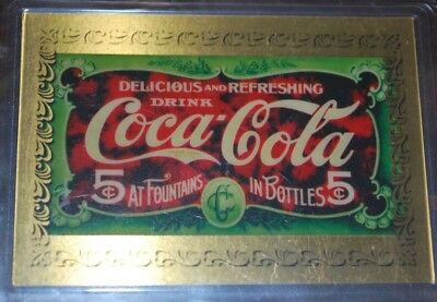 Coca Cola - One Gold Card -Both Special Mfg. Issue # 821 from 1993