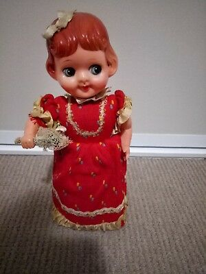 Antique Dancing Mary Tin/celluloid Doll Made In Japan