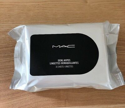 MAC Demi Wipes 30 Sheets Makeup Remover Cleansing Towelettes Brand New