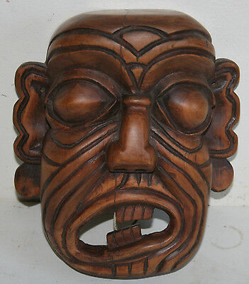 ANTIQUE QING DYNASTY CHINESE HAND CARVED RELIGION Mask 1