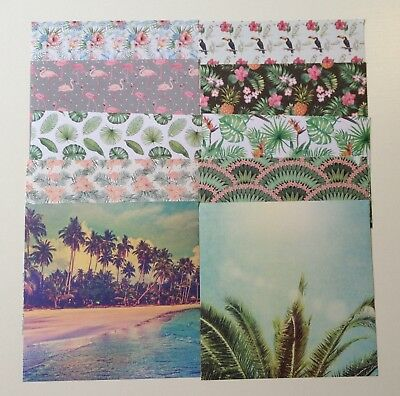 Scrapbooking cardmaking paper 15cm x 15cm - 20 sheets assorted, mainly botanical