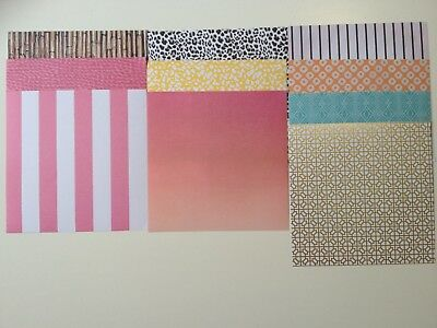 Scrapbooking cardmaking paper 15cm x 15cm - 20 sheets assorted, abstract