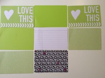 "Scrapbooking Cardmaking Papers x 8 double sided 15cm x 10cm (6"" x 4"") GREENS"
