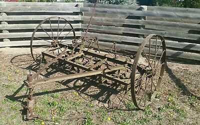 old horse drawn scarifier plough