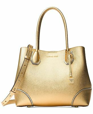 70679468bd MICHAEL Michael Kors Mercer Medium Leather Tote in Gold - MSRP  298