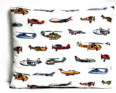 Airplanes Toddler Pillow on White Cotton AP10-6 New Handmade