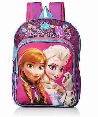 Frozen Disney Elsa Anna Girls Kids Cartoon School Backpack Bookbag Lunch Box SET
