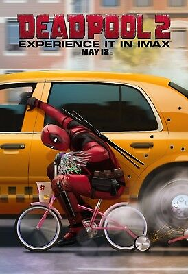 Deadpool 2 Movie Poster (24x36) - Ryan Reynolds, Josh Brolin, Cable, IMAX v7