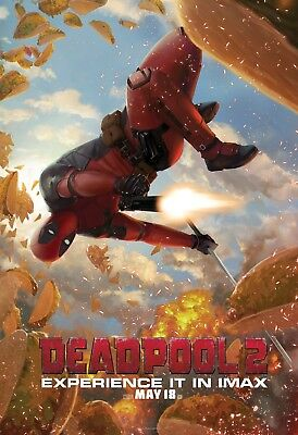 Deadpool 2 Movie Poster (24x36) - Ryan Reynolds, Josh Brolin, Cable, IMAX v9