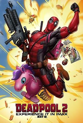 Deadpool 2 Movie Poster (24x36) - Ryan Reynolds, Josh Brolin, Cable, IMAX v10