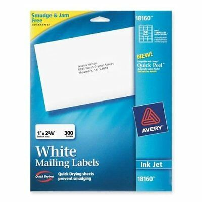 avery address ink jet labels 1 x 2 58 inches white
